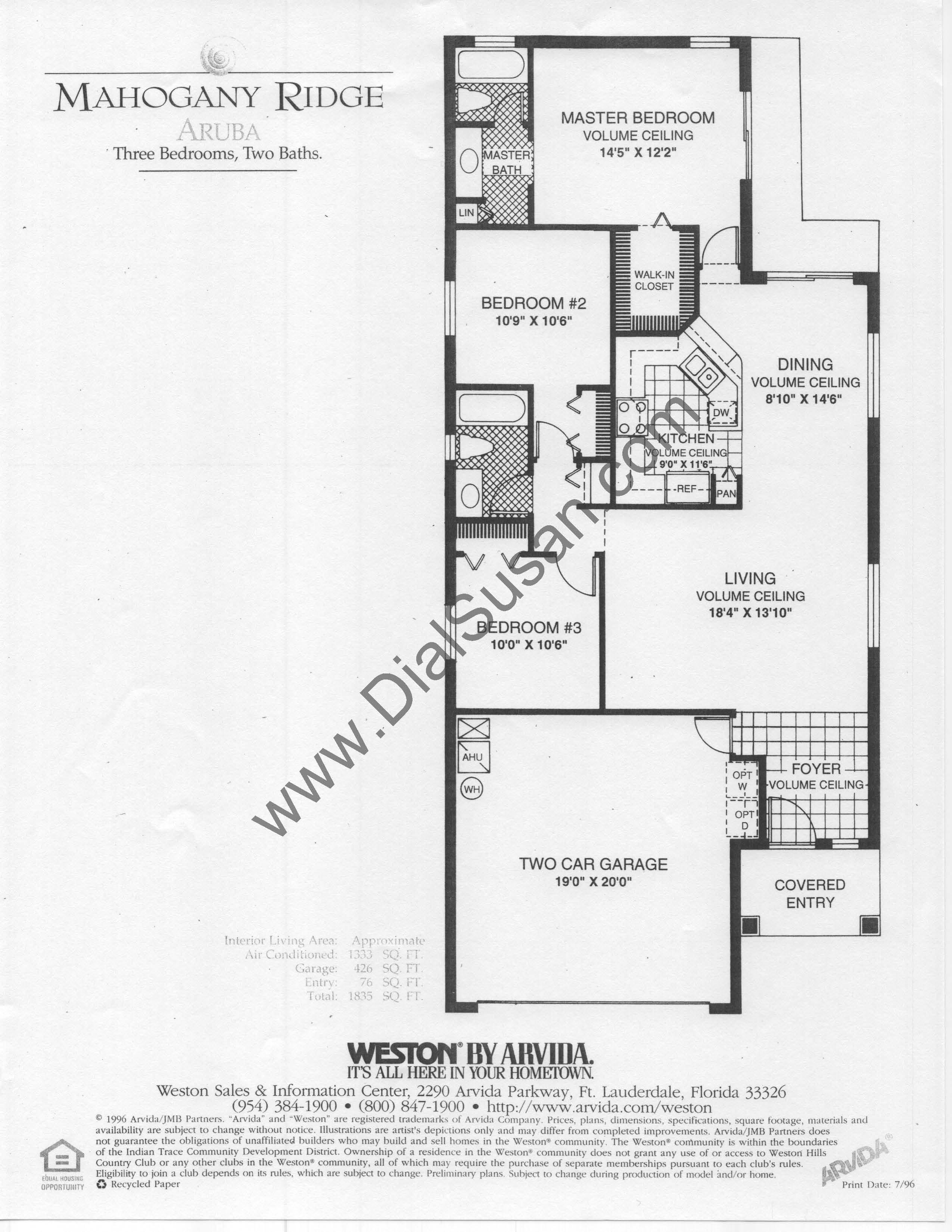 Mahogany Ridge 01 Aruba mahogany ridge,Arvida Homes Floor Plans